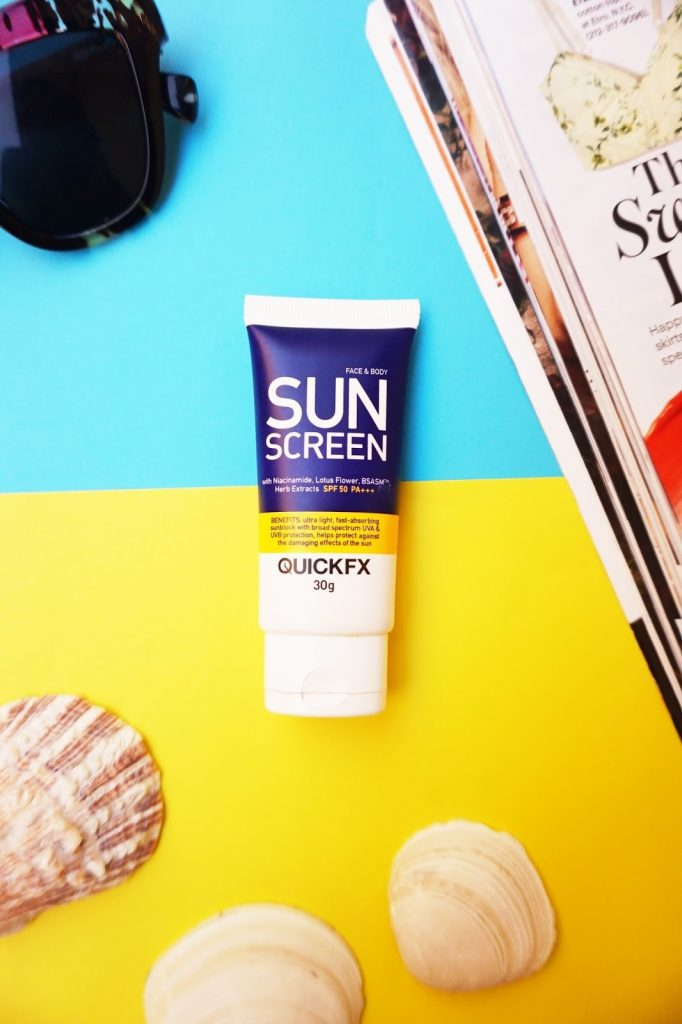 A quick review of the QuickFX Sunscreen