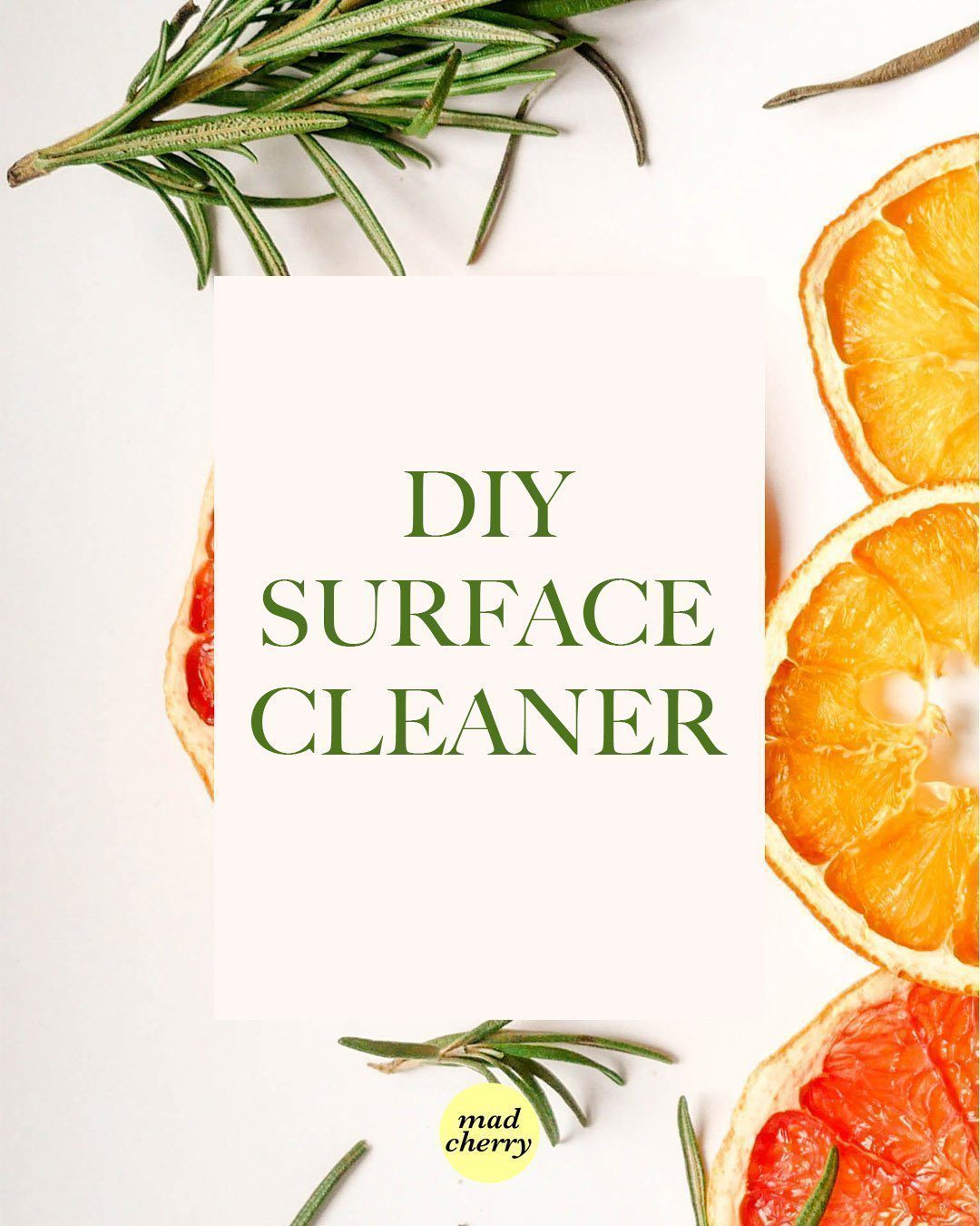 DIY Surface Cleaner — With Just Two Ingredients