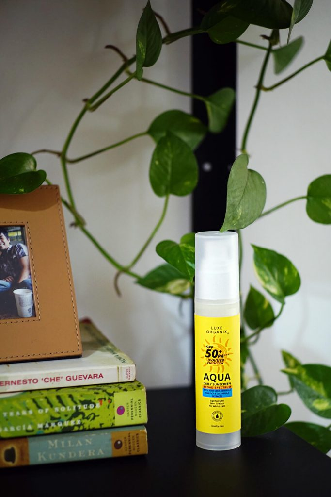 My husband tested the Lux Organix Sunscreen while biking, and here's what he thinks.